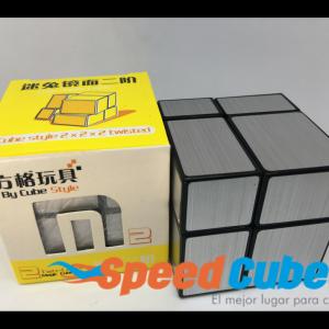 Cubo Rubik Mirror 2x2 Cube Style Plata Base Negra