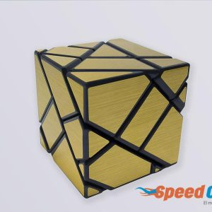 Cubo Rubik Ghost FangCun Cube Dorado Base Negra