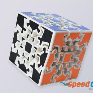 Cubo Rubik Gear Cube Mozhi Base Blanca