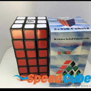 Cubo Rubik 3x3x6 WitEden Base Negra