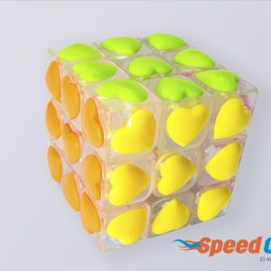 Cubo Rubik 3x3 Love YJ Base Transparente