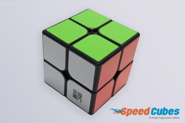 Cubo Rubik 2x2 Mofang YJ Base Negra