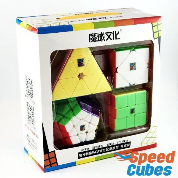 Paquete De 4 Cubos Rubik De La Marca Moyu